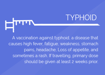 TYPHOID  (per shot)
