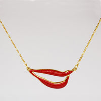 Sylvia Bennett signature lips pendant with PermaGold Chain