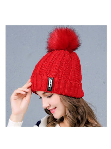Wake Me Up Women's Pompoms Knitted Hat