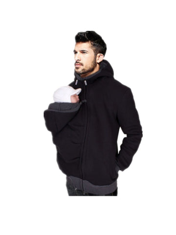 Baby Father Baby Carrier Jacket Kangaroo Sweatshirt