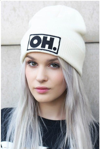 OH Embroidery White Hat