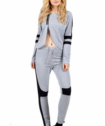 Two-piece Set Hooded Sweatshirt+Pants - FIREVOGUE
