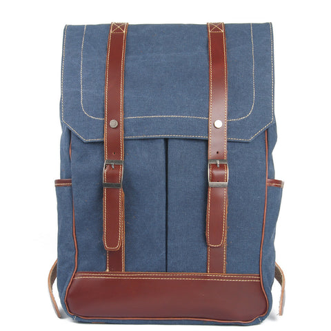 Go Your Own Way Blue Canvas Backpack