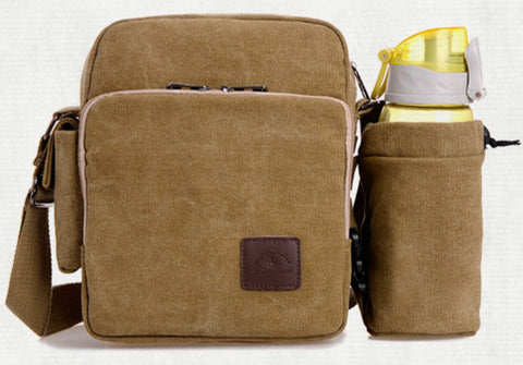Casual Style Multifunction Canvas Bag with Detachable Bottle bag - FIREVOGUE