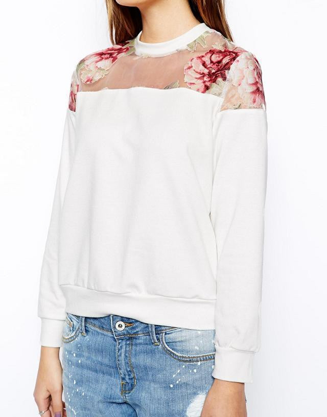 Home Grown Floral Sweatshirt - FIREVOGUE