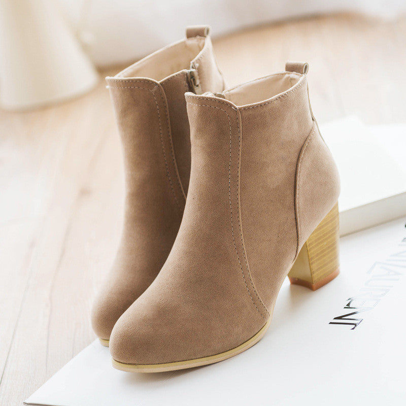 Matte-leather Ankle Boot