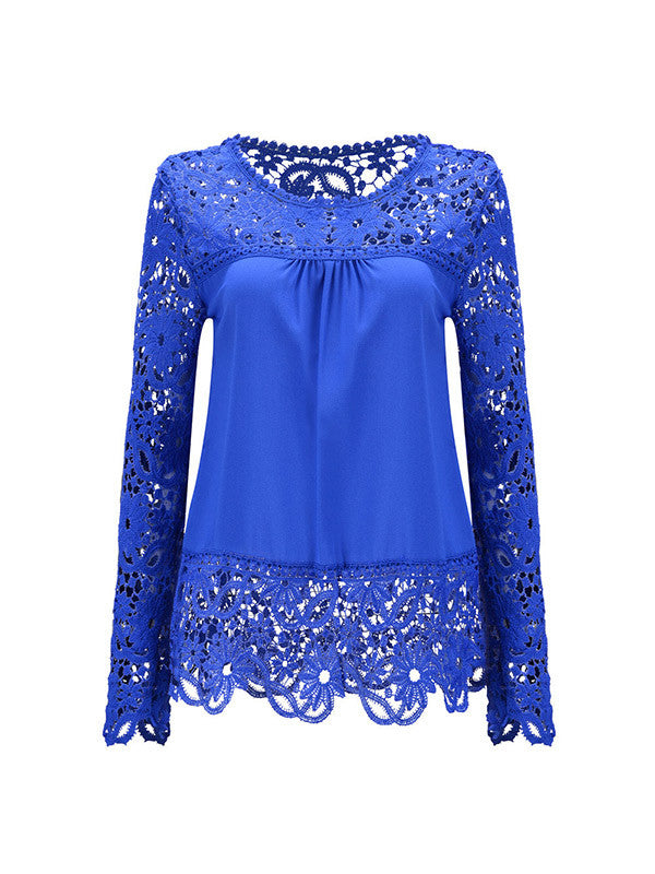 All Over Lace Shirt - FIREVOGUE