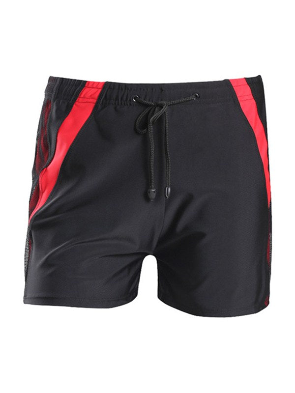 Men's Elasticized Waistband with Drawstring Beach Shorts