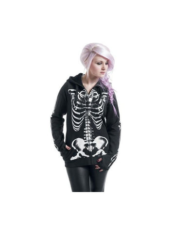 Classic Hallowmas Skeleton Zipper Hoodie