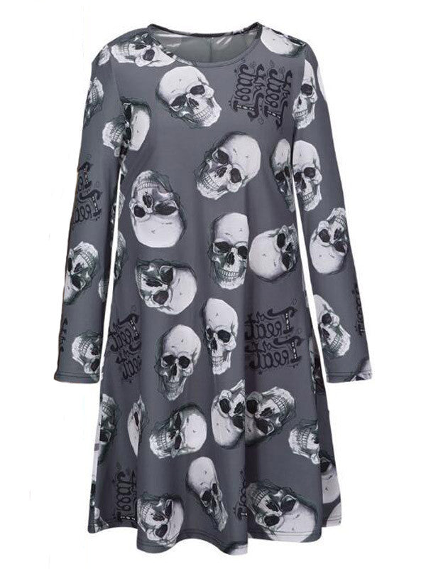 Halloween Ideas Print Dress - FIREVOGUE