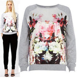 Female  Long-sleeved printed Sweater - FIREVOGUE