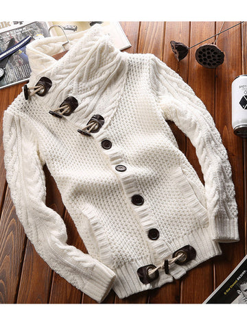 Forever Love Horn Buttons Sweater - FIREVOGUE