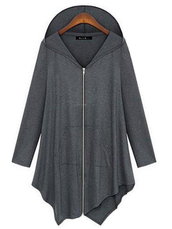 Irregular Cut Hooded Outerwear - FIREVOGUE