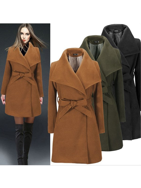 Perfect Match Casual Coat With Belt