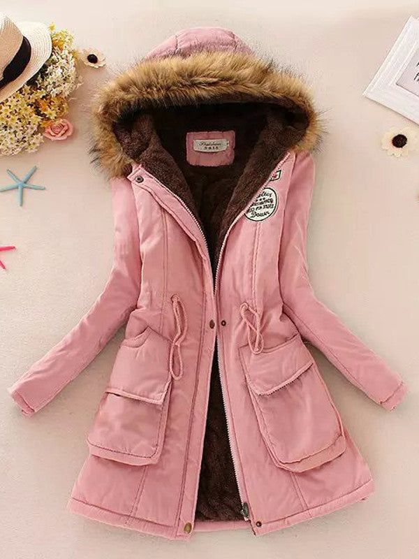 Cotton Padded Winter Hooded Coat - FIREVOGUE