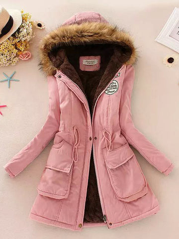 Cotton Padded Winter Hooded Coat