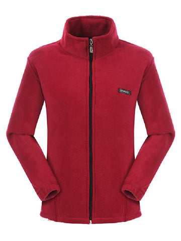 Casual Collar Zip Outerwear