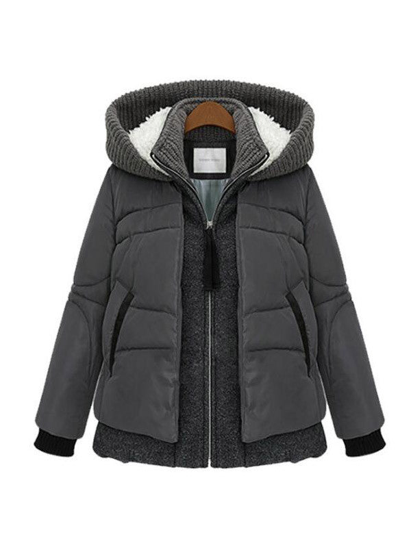 Fake Two-piece Winter coat