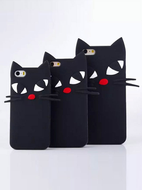 Black Cat iPhone Protective Phone Case - FIREVOGUE