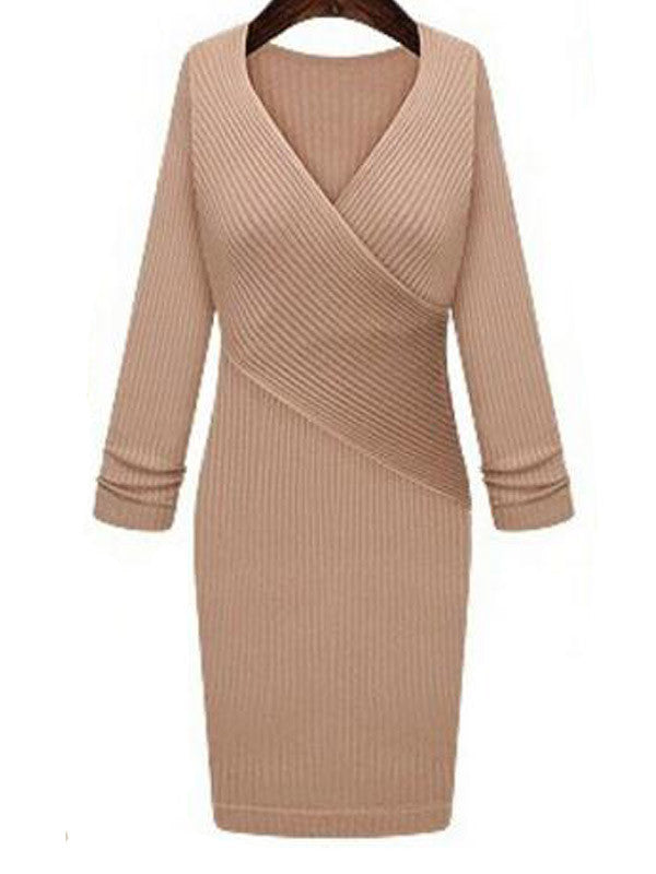Cross Your V's Knit Dress - FIREVOGUE