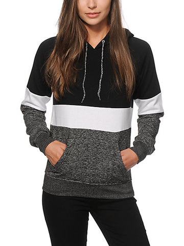 Multi-colored Pocket Hooded Sweatshirt