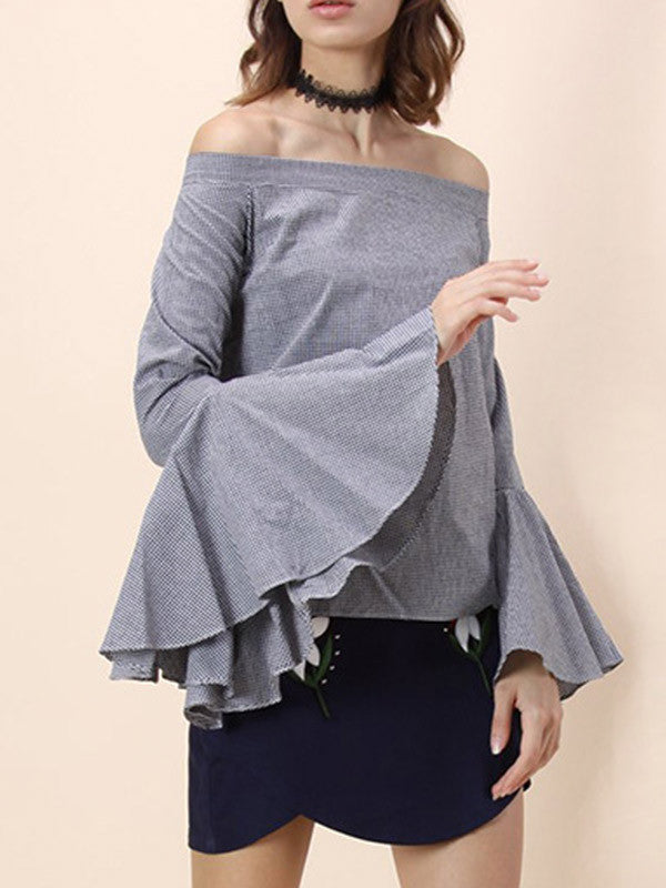 It's Not Today Off the Shoulder Flare sleeves Top - FIREVOGUE