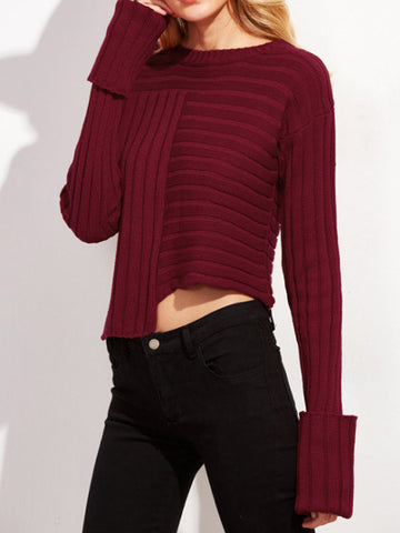 Off Campus Asymmetric Knitted Top