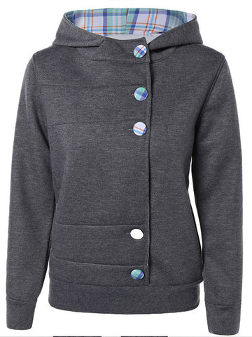 Ifs Ands or Buttons Hooded Sweatshirt - FIREVOGUE