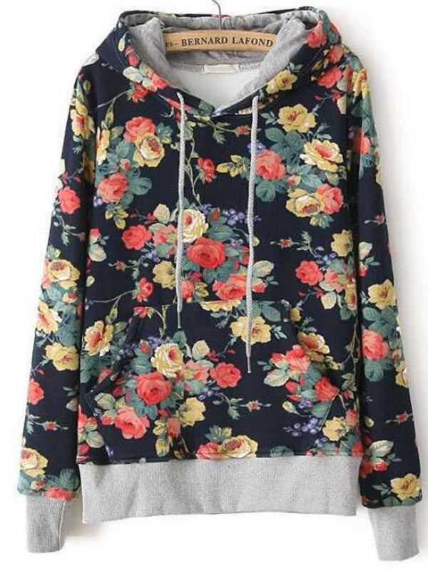 Flower Play Hooded Sweatshirt