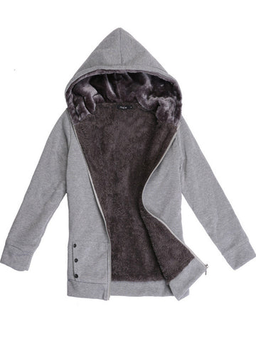 Keep You Warm Hooded Outerwear