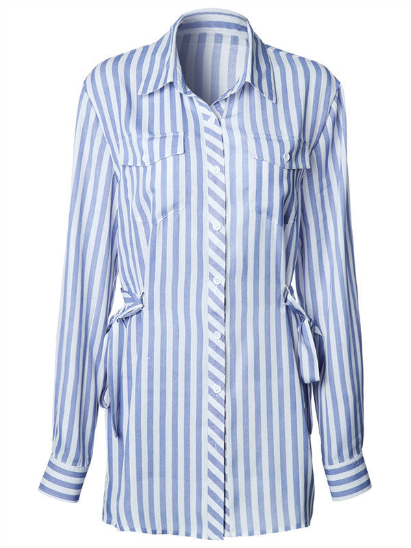 New Spring Long-sleeved Striped Shirt - FIREVOGUE