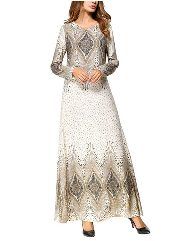 Gentle And Quiet Printed Maxi Dress