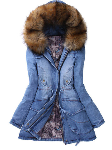 Denim Little Games Winter Coat - FIREVOGUE