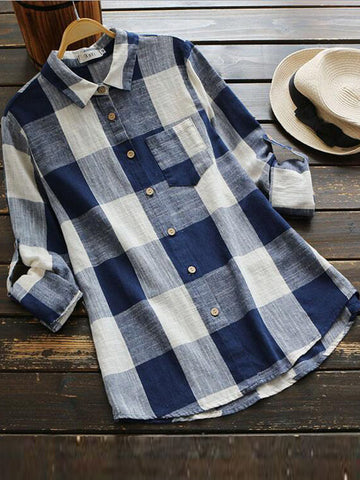 Check Please Plaid Shirt - FIREVOGUE