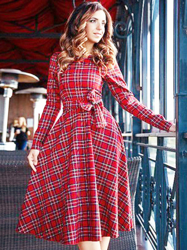 You Might Think Plaid Dress