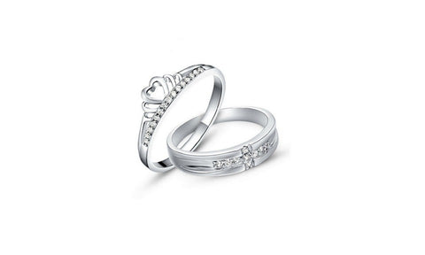 Be Your King Or Queen Silver Couple Rings