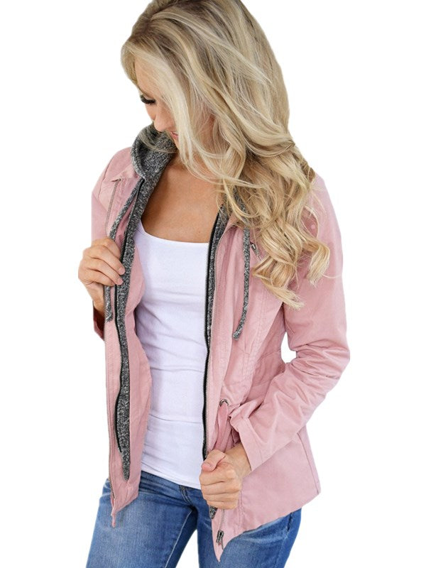 Just Female Casual Hooded Jacket