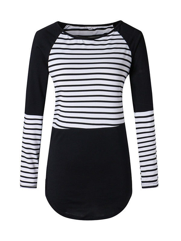 Stripe Palace Casual Top - FIREVOGUE