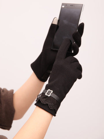 Warm Lace Telefingers Gloves - FIREVOGUE
