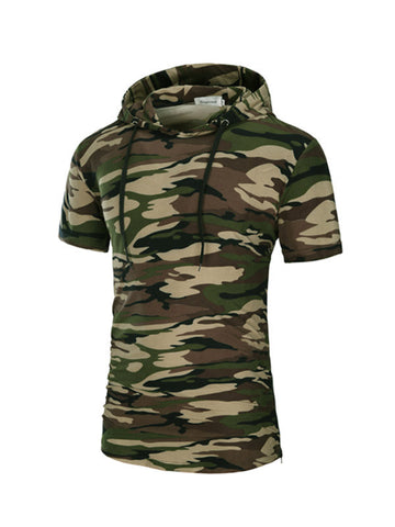 Men's Hooded Short-sleeved T-shirt