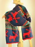 Christmas Deer Knitted Scarf - FIREVOGUE
