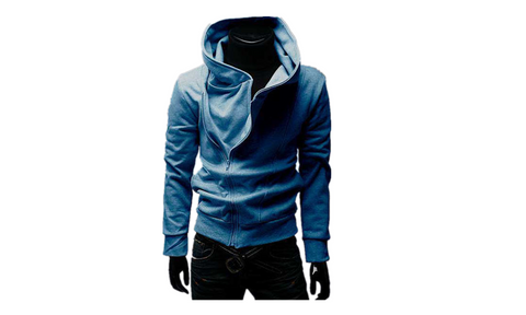 Men's Diagonal Zip Up Front Outwear - WealFeel