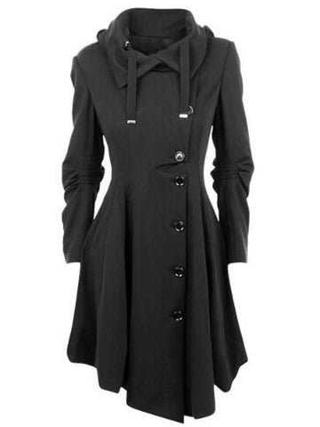 Night Walker Wool Long Coat - FIREVOGUE