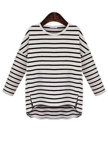 Basic Stripe Casual Top