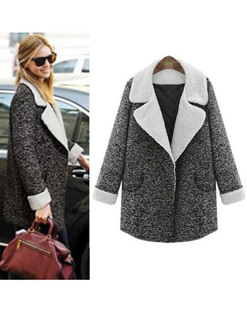 Fashion Quilted Woollen Coat