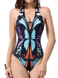 Butterfly Print One-piece Swimsuit