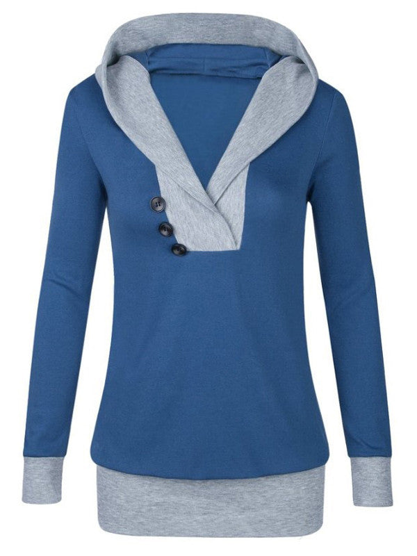Hood Morning Button Sweatshirt - FIREVOGUE
