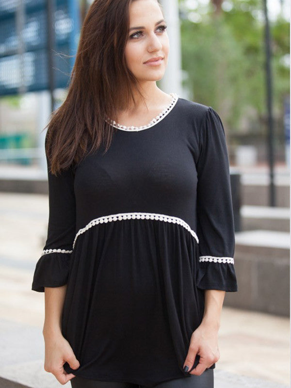 Easy Way Ruffle Loose Top - FIREVOGUE