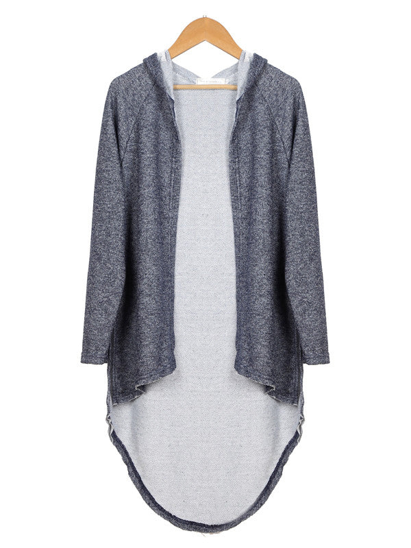 On Your Side Asymmetric Hooded Shirt - FIREVOGUE