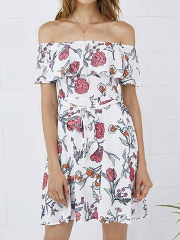 Think It Out Floral Dress